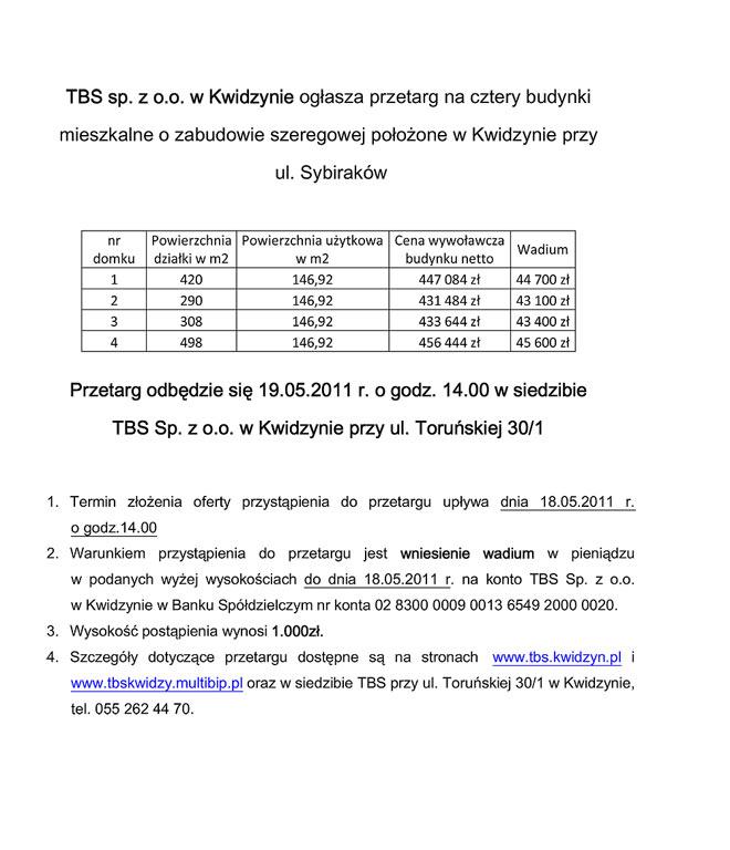 20110613 TBS przetarg domki