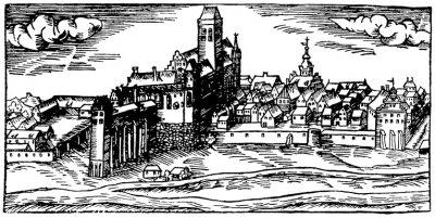 Najstarszy zachowany widok miasta Kwidzyna