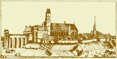 Panorama miasta wg H. Ogiera z ok. 1700 roku
