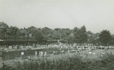 Kwidzyn - Odkryty basen miejski, ok. 1960 roku