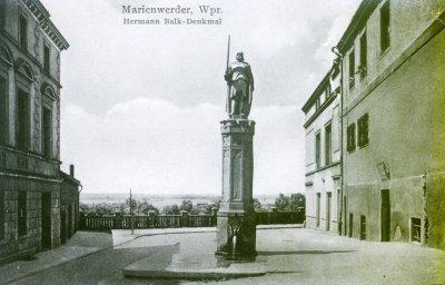 Pomnik Hermanna Balka - założyciela Kwidzyna