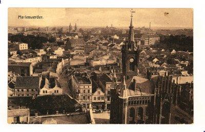 Kwidzyn - Widok z wieży dzwonnej katedry w kierunku starego miasta