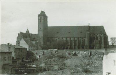 Kwidzyn - Widok zrujnowanego, starego miasta, 1959 rok