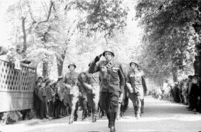 Kwidzyn - Parada wojskowa, lata 60-te XX wielu