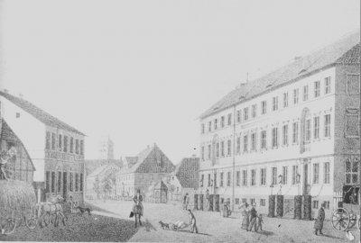 Obecna ulica Braterstwa Narodów pod koniec XIX wieku - Kwidzyn