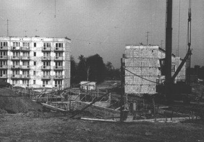 """Kwidzyn - Budowa """"Osiedla Świerczewskiego"""", lata 80-te XX wieku"""