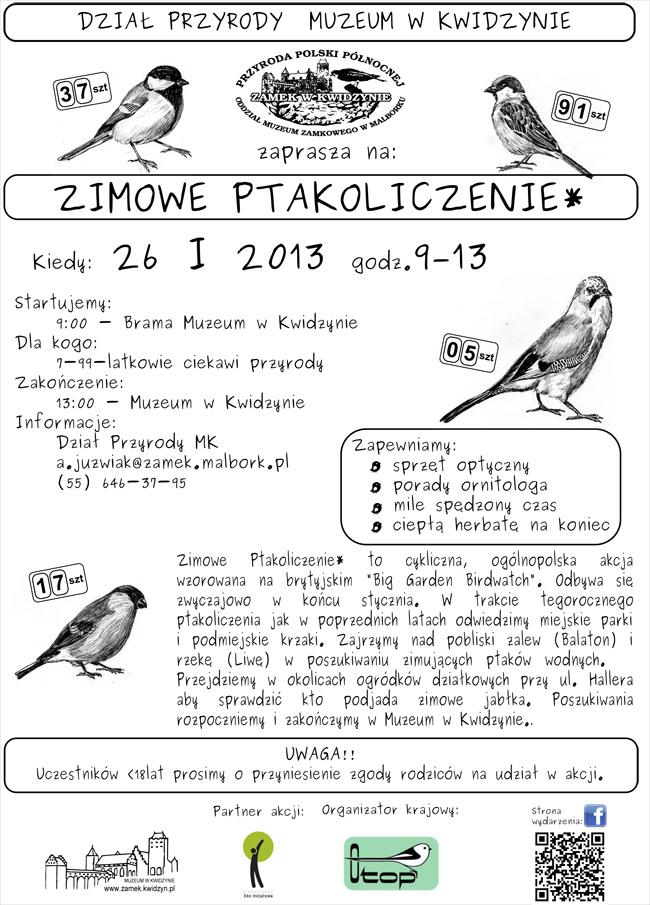 14 01 2013 ptakoliczenie plakat