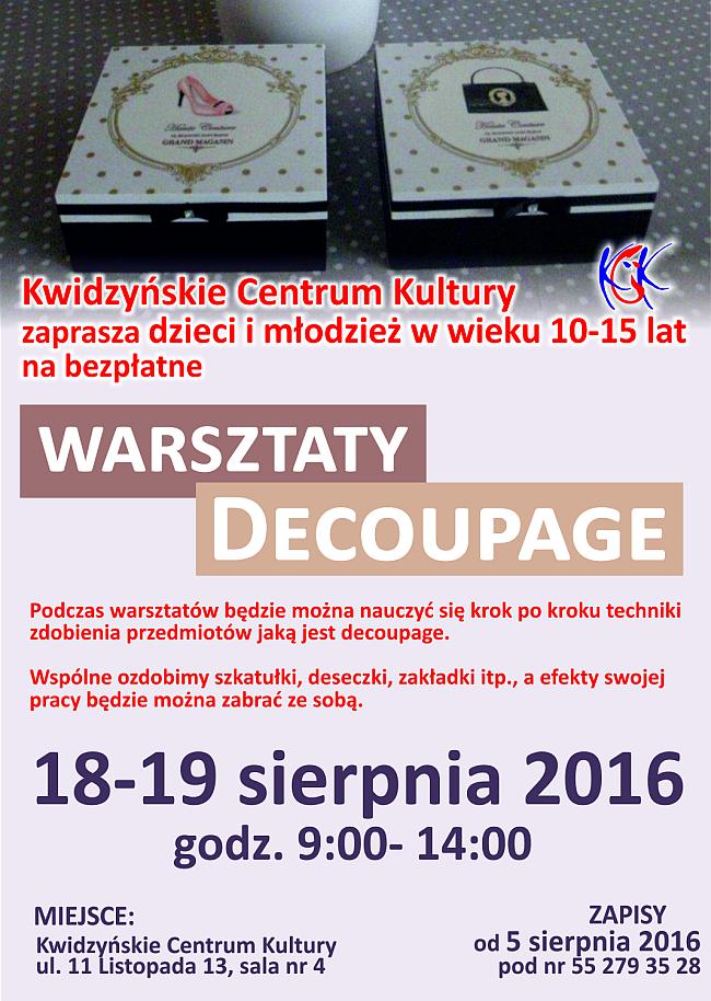 11 08 2016 warsztaty decoupage