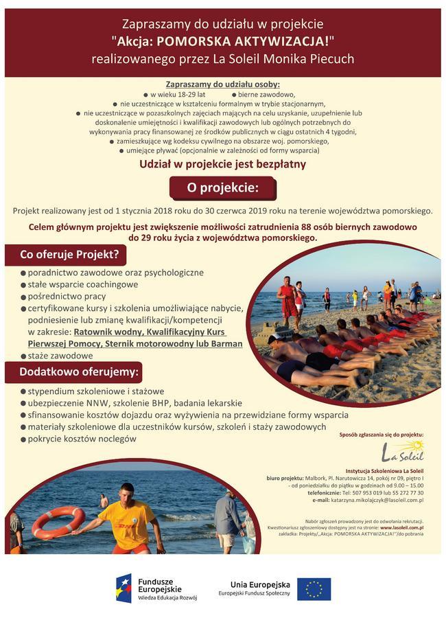 15 02 2018 Plakat Akcja Pomorska Atywnosc
