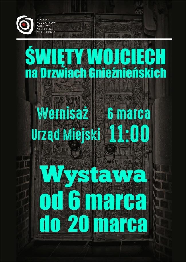 """Plakat """"Święty Wojciech na Drzwiach Gnieźnieńskich"""""""