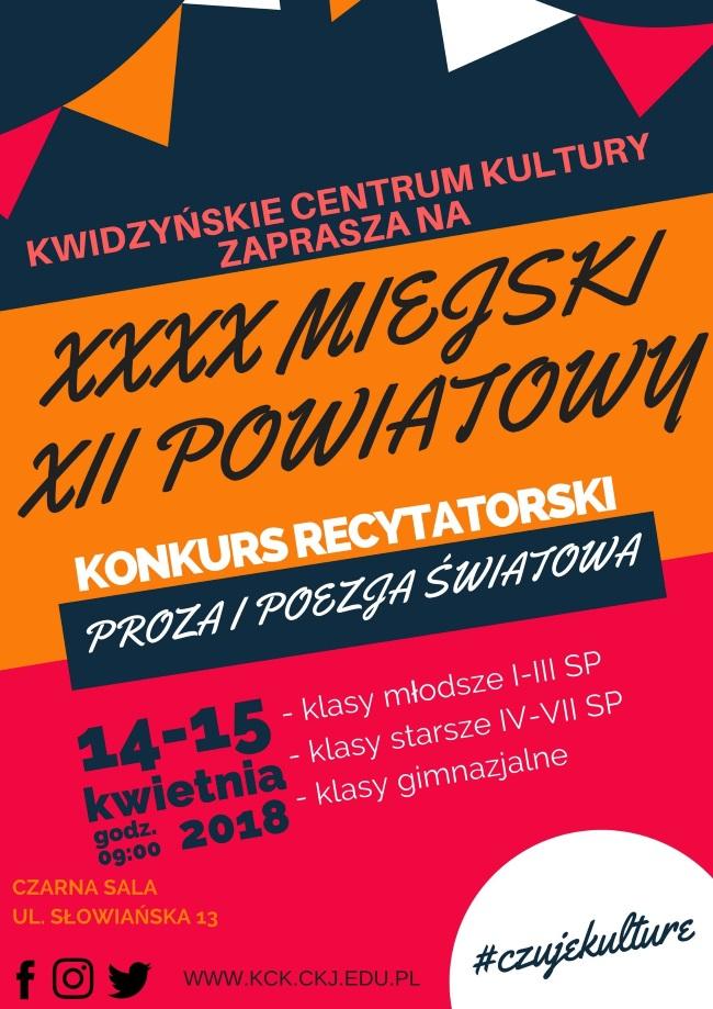 10 04 2018 konkurs recytatorski