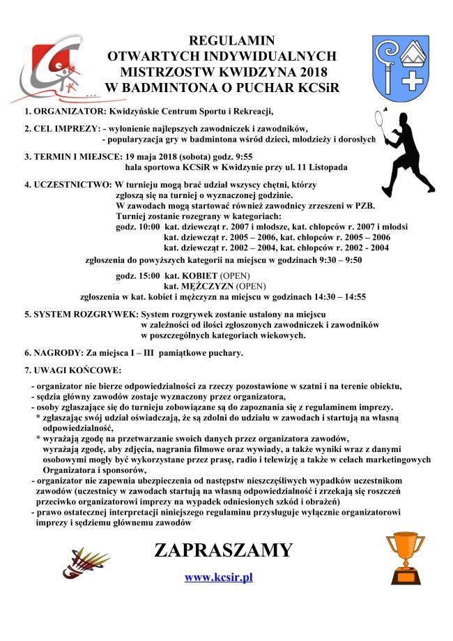 15 05 2018 badminton regulamin