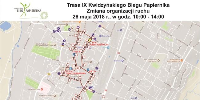 15 05 2018 bieg papiernika zmiana organizacji ruchu