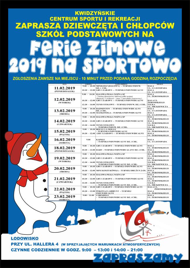 30 01 2019 ferie na sportowo
