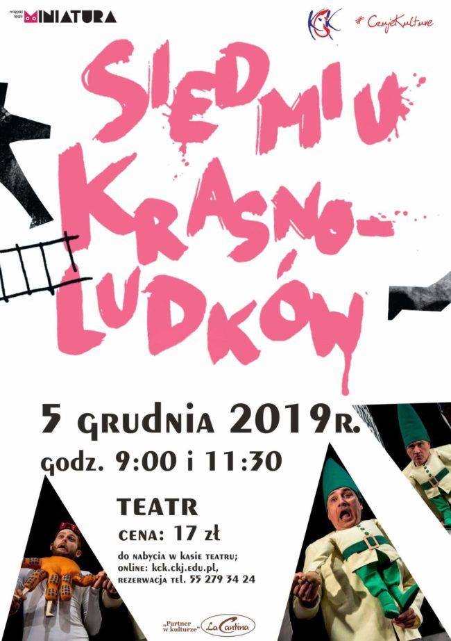"Plakat spektaklu ""Siedmiu krasnoludków"""