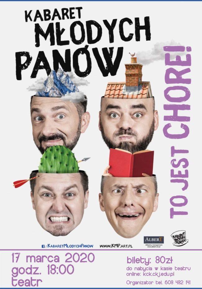 Plakat występu Kabaretu Młodych Panów