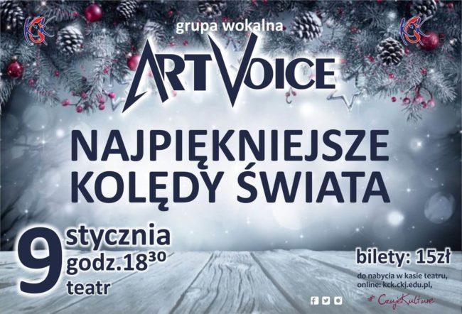 Plakat koncertu kolęd Art Voice