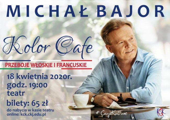 Plakat koncertu Michała Bajora