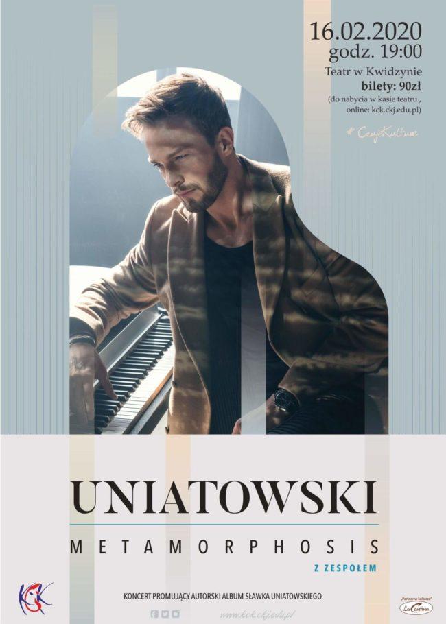 Plakat koncertu Sławka Uniatowskiego