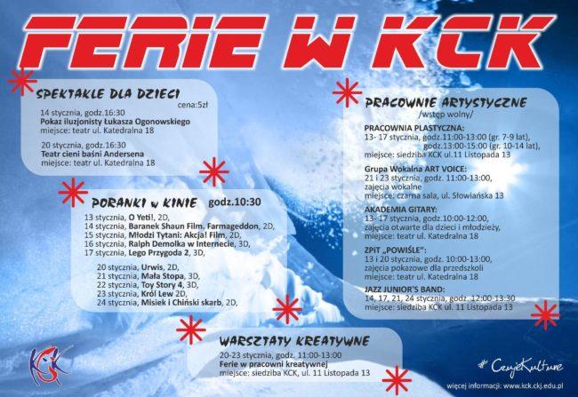 Oferta KCK na ferie zimowe 2020