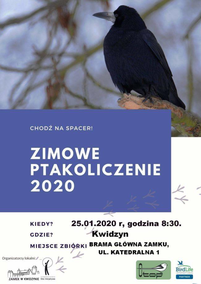 Plakat Zimowego Ptakoliczenia 2020
