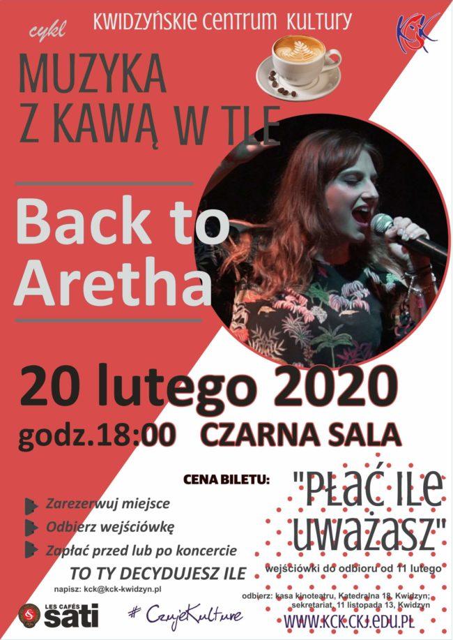 "Plakat koncertu ""Back to Aretha"""