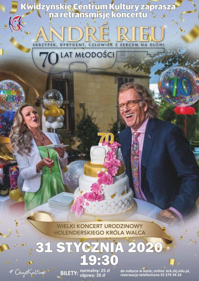 Plakat retransmisji koncertu André Rieu