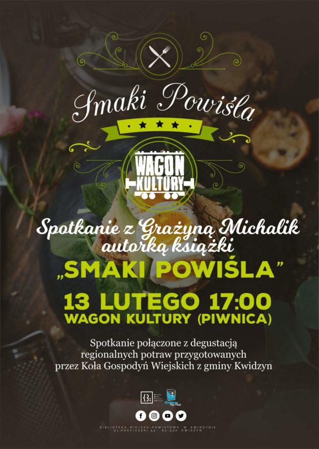 Plakat spotkania z Grażyną Michalik