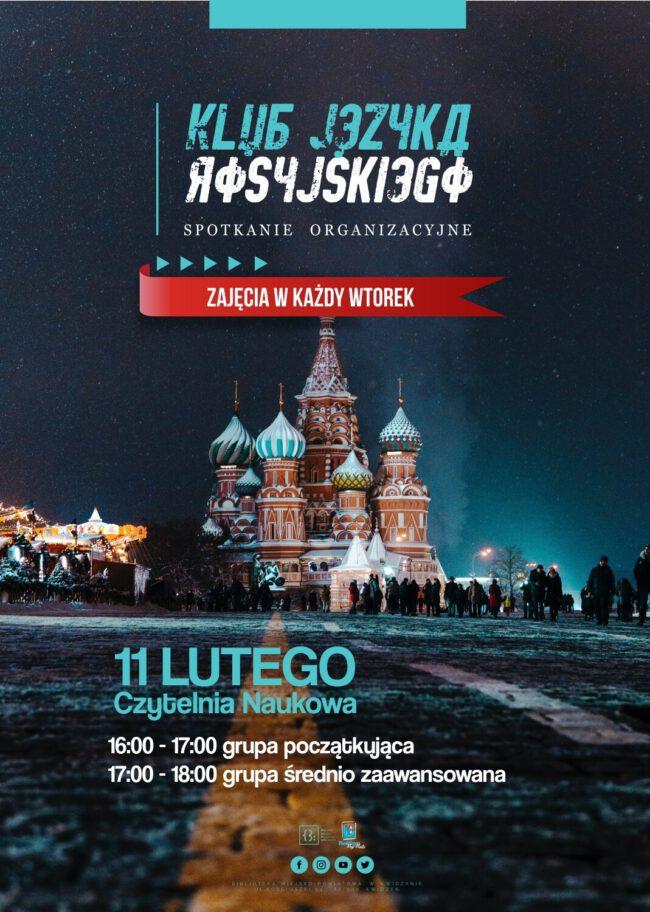 Plakat Klubu Języka Rosyjskiego