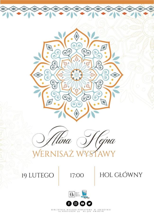 Plakat wernisażu wystawy Aliny Hekny