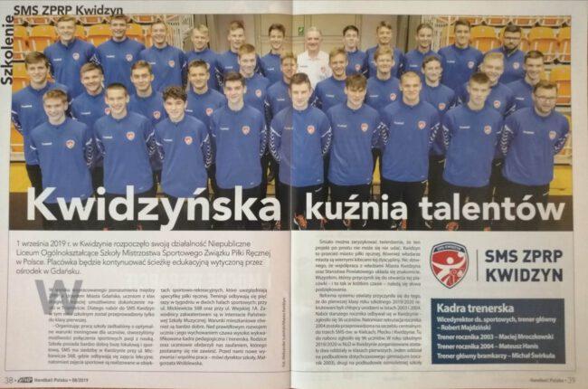 """Artykuł w magazynie """"Handball Polska"""""""