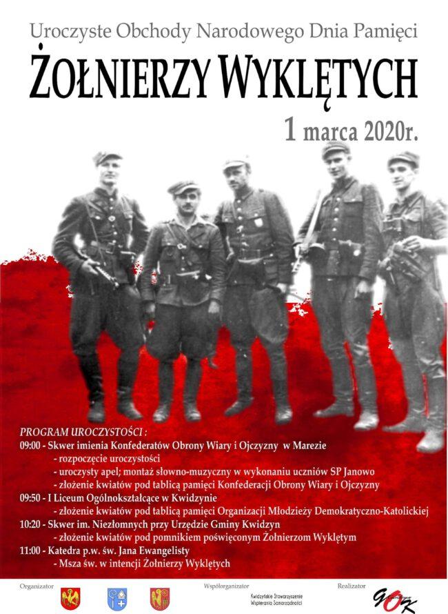 Plakat Uroczystych Obchodów Narodowego Dnia Pamięci Żołnierzy Wyklętych