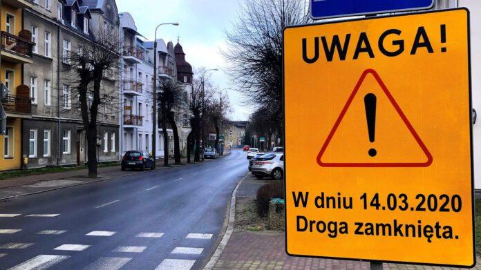 Komunikat o zamknięciu ul. Wiślanej dla ruchu w dniu 14 marca 2019 r.