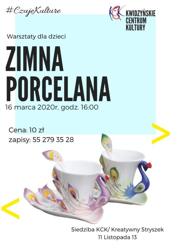 Plakat warsztatów o zimnej porcelanie
