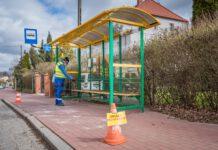 PWK dezynfekcja, przystanki autobusowe