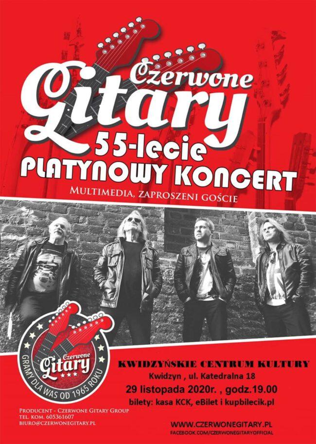 Plakat koncertu zespołu Czerwone Gitary